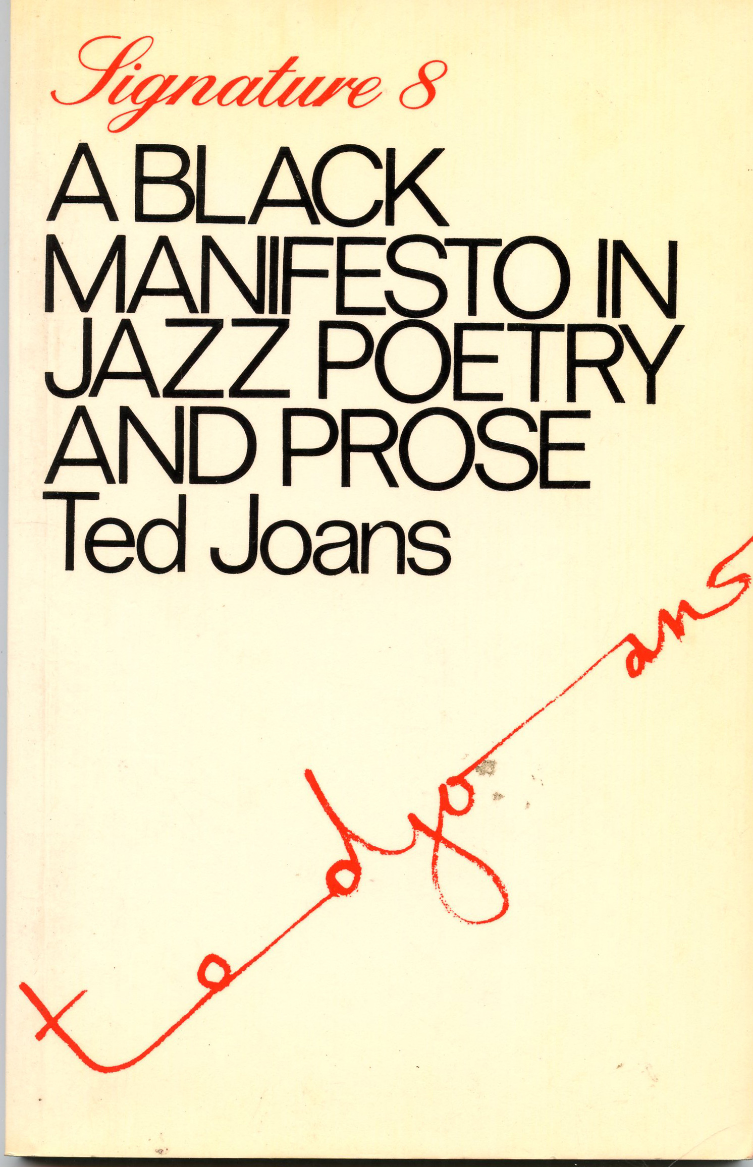 Image for A Black Manifesto in Jazz Poetry and Prose