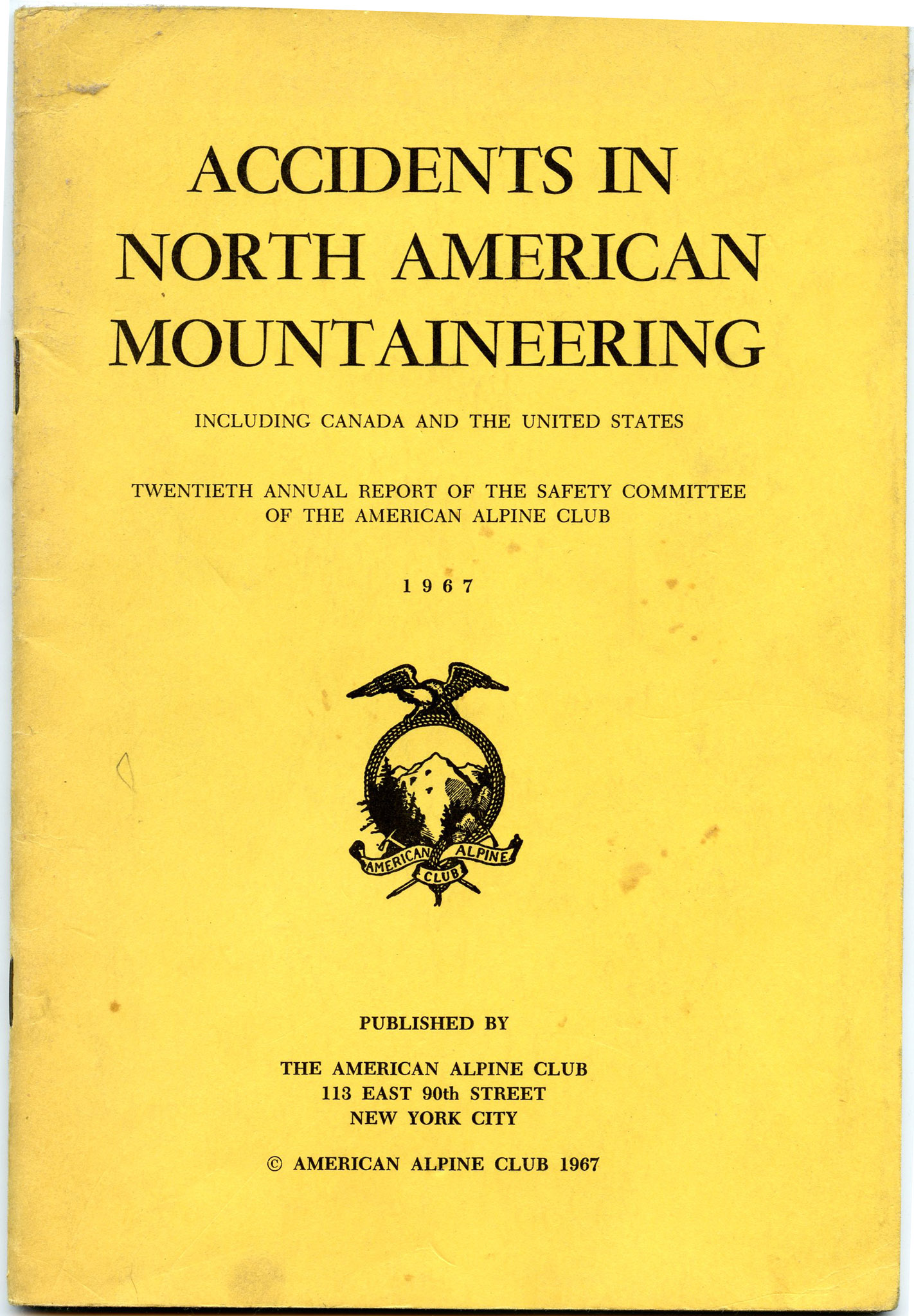 Image for Accidents in North American Mountaineering