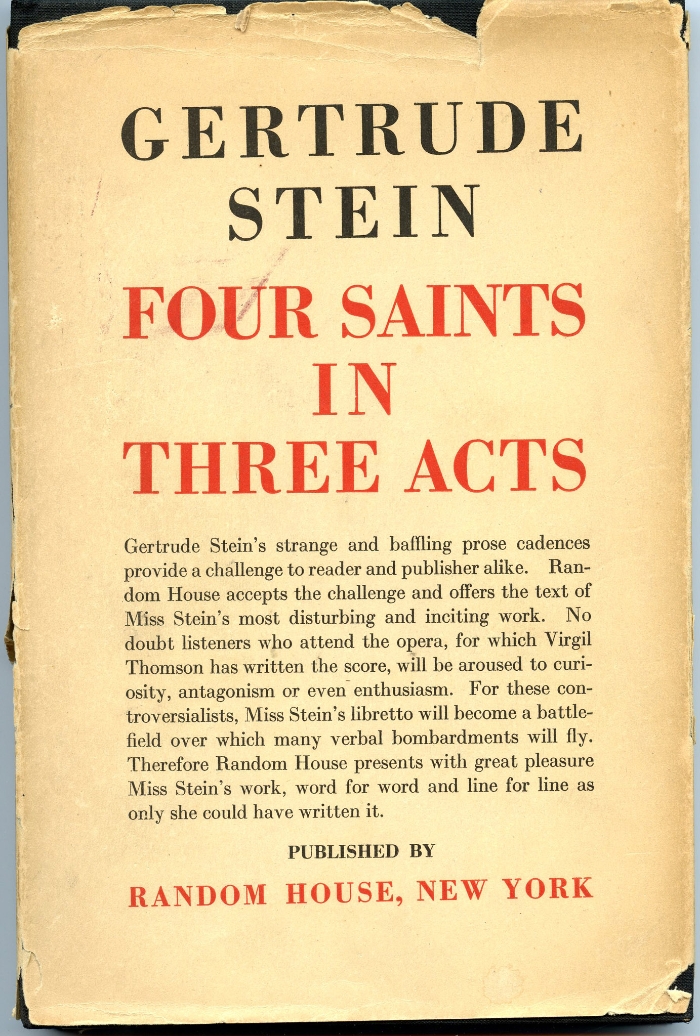 Image for Four Saints in Three Acts